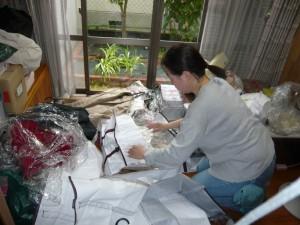 衣服の整理