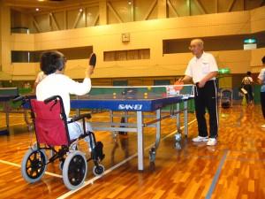 障害者のスポーツ交流講習会お手伝い